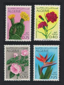 Algeria Cacti Roses Strelitzia Algerian Flowers 4v SG#527-530