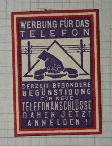 Phone Commerce Sales German Telemarketer Poster Stamp ADs