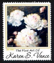 Artistamp: June Peonies, Karen S. Vance - Cinderella - MNH