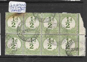 BECHUANALAND (P1801B) POSTAGE DUE 1/2D SG D4 BL OF 8  VFU