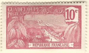 Guadeloupe (Sc #59) F-VF Mint OG hr..French Colonies are Hot!