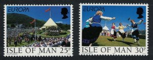 Isle of Man Festivals and National Celebrations Europa CEPT 2v SG#817-818