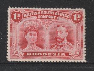 Rhodesia a 1d MH Double head perf 14