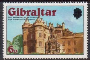 Gibraltar Scott 365 - SG400, 1978 Coronation 6p MH*