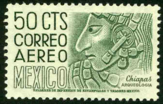 MEXICO C220E, 50¢ 1950 Definitive 2nd Ptg wmk 300 PERF 11 1/2X11 MINT, NH VF