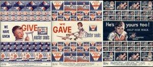 USA 1957 1958 1959 Help Crippled Children EASTER SEALS Sheets Collection Mint LH
