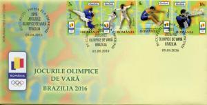 Romania 2016 FDC Summer Olympic Games Rio 2016 4v Set Cover Judo Olympics Stamps