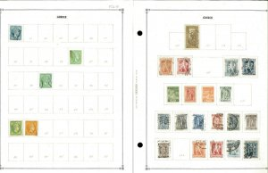 Greece 1862-1940 M & U Hinged on Blank Scott International Pages.