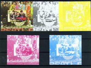 Chad 2009 THE BEATLES Deluxe s/s Imperforated 4 color Proofs+original Mint (NH)