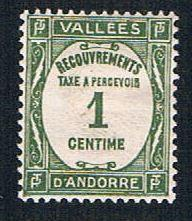 French Andorra J16 MLH Postage Due (BP8231)