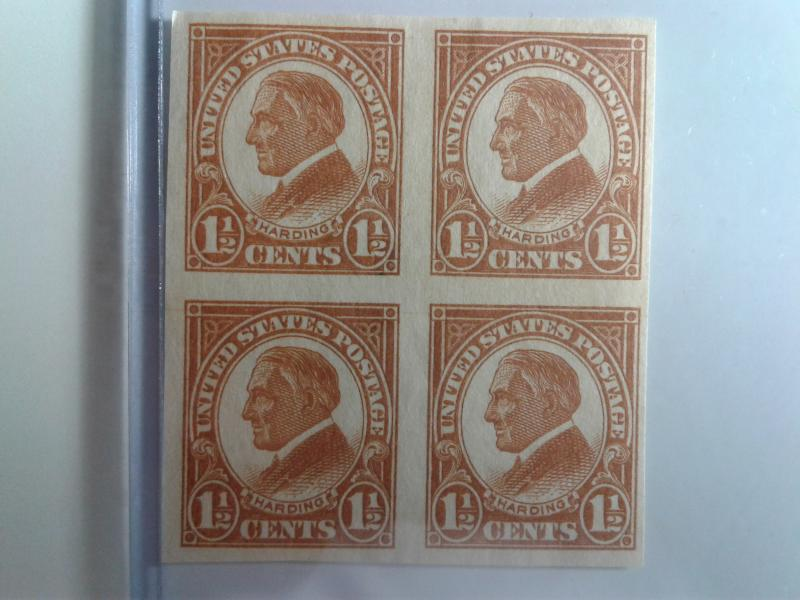 SCOTT # 576 BLOCK OF 4 INCREDIBLE MINT NEVER HINGED GEMS !!