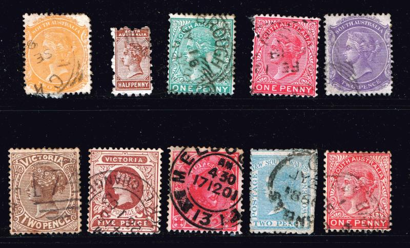 Australia>States & Territories> USED STAMPS COLLECTION LOT