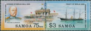 Samoa 1990 SG844-845 Treaty of Berlin set MNH