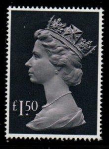 Great Britain Sc MH173 1986 £1.50 QE II Machin Head stamp mint NH