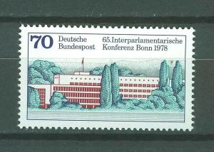 ALEMANIA/RFA WEST GERMANY 1978 MNH SC.1277 Interpaliamentary conference