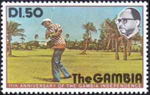 Gambia # 334 mnh ~ 1.50d Golf