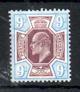 GB KEVII 1902-10 9d mint LHM #250 WS13910