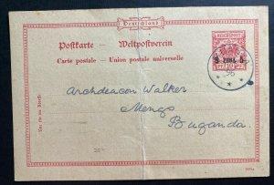 1896 Muanza German East Africa Postal Stationery  Postcard Cover