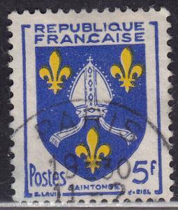 France 739 Arms of Saintonge 5Fr 1954