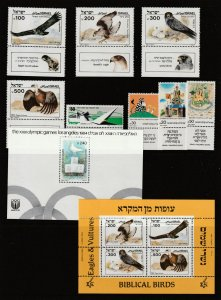 Israel a small MNH lot with 2 minis & sets with tabs