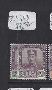 MALAYA JOHORE  (P1506BB)  SULTAN 1C, 3C   SG 61, 63
