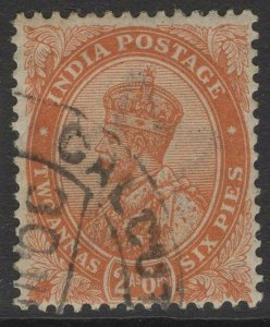 INDIA SG199 1926 2a6p ORANGE USED