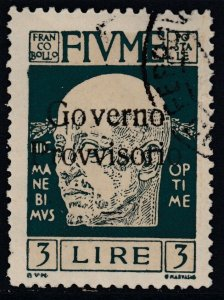 ITALY - Fiume - Sassone n.161 used cv 162$