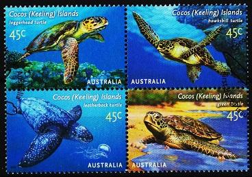 Cocos(Keeling)Islands. 2002 45c(Block of 4). S.G.393/396 Fine Used