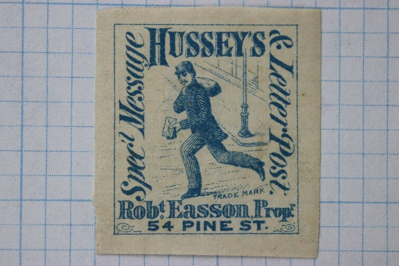 Hussey's Letter Post Special Rob Easson Pine st Local Delivery stamp 87L57