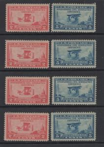 US Stamps 1928  Aeronautics Conference  Set  Scott 649 - 650 MNH