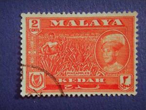 KEDAH, 1959, used 2c. red,  Sultan Abdul Halim Shah