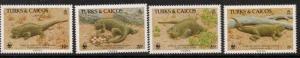 TURKS & CAICOS IS. SG888/91 1986 IGUANA MNH
