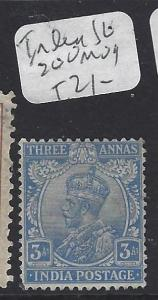 INDIA  (PP1609B)  KGV 3A  SG 200   MOG