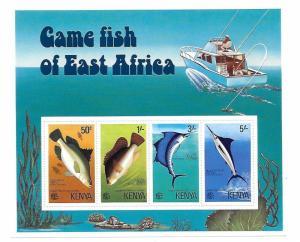 Kenya 1977 Game Fish S/S MNH C2