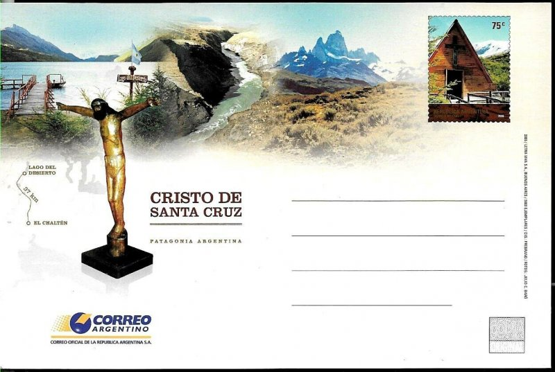 PS-174 ARGENTINA 2006 P STATIONARY RELIGION CHURCH IN PATAGONIA UNUSED