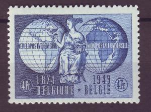 J14814 JLstamps 1949 belgium set of 1 mh #400 upu