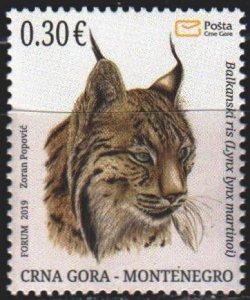 Montenegro. 2019. Lynx, fauna. MNH.