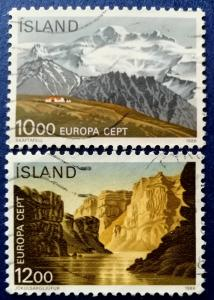 Iceland National Parks Stamp Set Scott # 622-3 Used (I728)