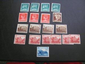 GERMANY 1941 MNH SC# 499/505 LOT (115)