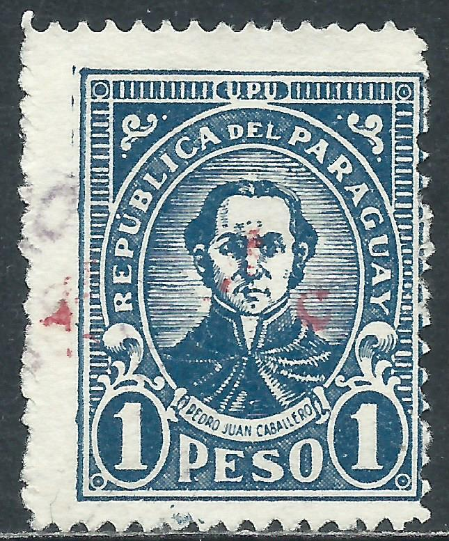 Paraguay, Sc #L21, 1p Used