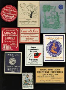 1913 to 1953  POSTER STAMPS & LABELS ( LOT OF 10 )