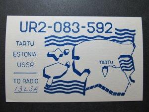 5412 Amateur Radio QSL Card Tartu Estonia USSR