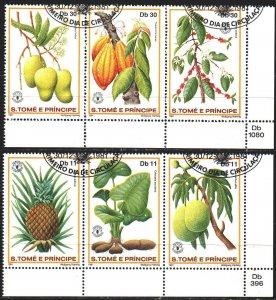 Sao Tome and Principe. 1981. 744-49. Fruits, flora. USED.