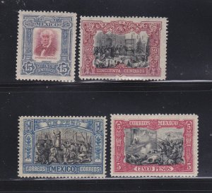 Mexico 316, 318-320 MH Independence