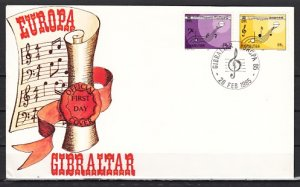Gibraltar, Scott cat. 471-472. Europa- Music Year issue. First day cover. ^