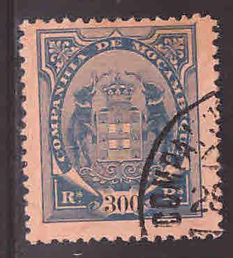 Mozambique  Company Scott 35 Used stamp from 1897-1907 Coat of Arms set