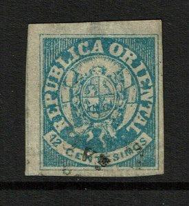 Uruguay SC# 23d Laid Paper / Hinge Rem / Tiny Thin - S11839