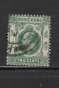 HONG KONG #88  1904  2c  KING EDWARD VII    USED F-VF  b