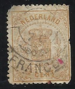 Netherlands SC 21 Used Fine Centering Perfs trimmed right edge