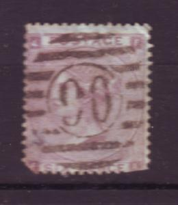 J18513 JLstamps 1862 great britain used #39 queen defect $105.00 scv